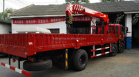 Construction machinery truck cranes with low price FOTON 6x2 lorry crane