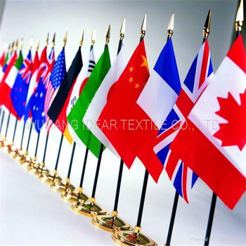 100% Polyester Colored flags/Printed Advertising Flags
