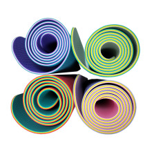 tpe yoga mat manufacturer accept custom size yoga mat accept custom logo yoga mat
