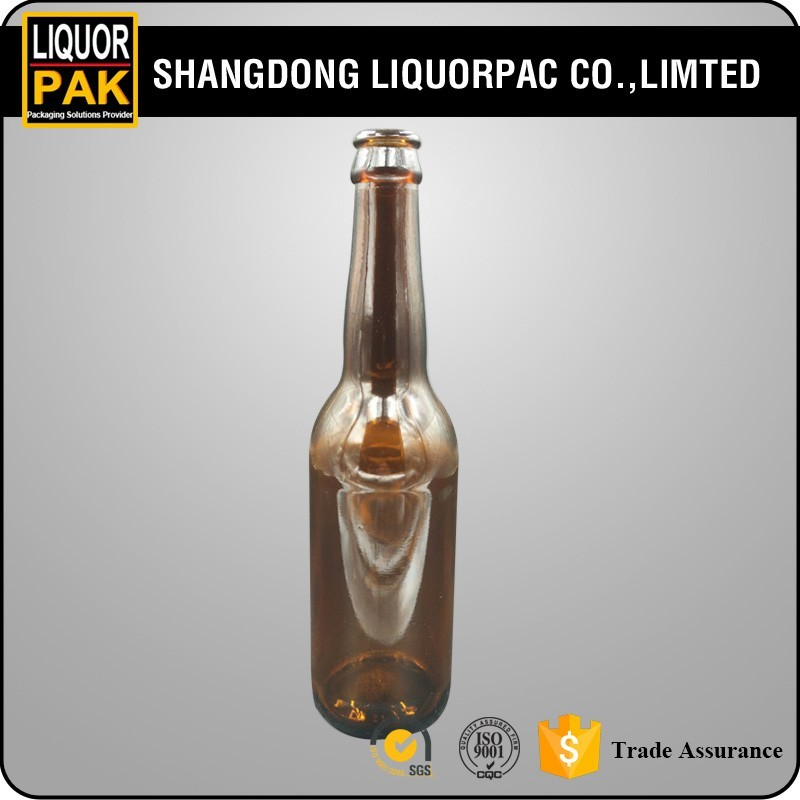 stock bottle 330ml brown color beer glass