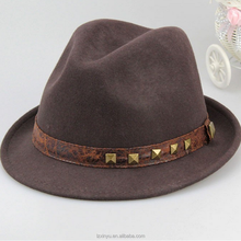 Wide brim felt fedora hats fashion style wholesale felt hillbilly hat
