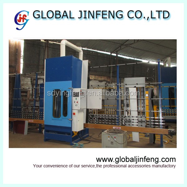 JFP1600 Automatic PLC glass marble frosting machine with 4 guns China manufacturer