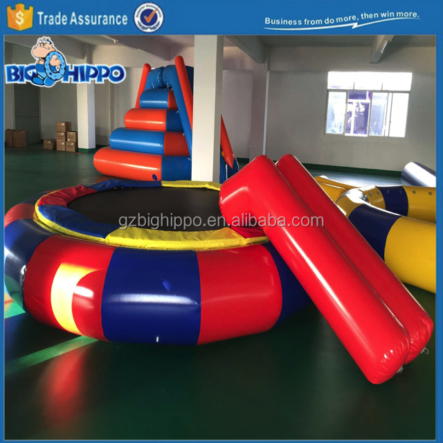 Inflatable water jumpping bed water inflatable trampoline