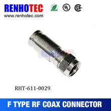 High quality Connectors for cable coaxial Europe Type compression f connector conector