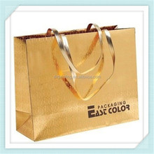 promotional gold stamping gift bag foldable shopping paper bag