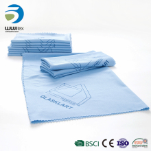 wholesale 100%polyester wash car mesh printing cleaning cloth