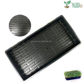 2017 Hot Selling Seeds Nursery plastic hydroponic animal fodder tray with holes for sale