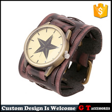 Retro Genuine Leather Bracelet Watch Men women Watches Personalized Leather Bracelet Watch