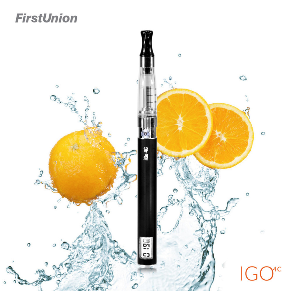 New product big vapor e cigarette igo4c smart LCD display elektronik rokok shisha