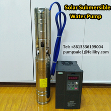 1.5hp solar submersible pump in Zimbabwe 4inch solar pump irrigation kit water pump solar system