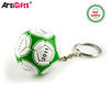 Factory Promotional Items Cheap Custom 3d Football Shaped Soft Pvc Keychain