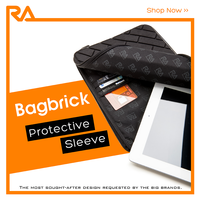 "Bag brick, high quality 8"" universal neoprene sleeve for tablet, chocolate bar style"