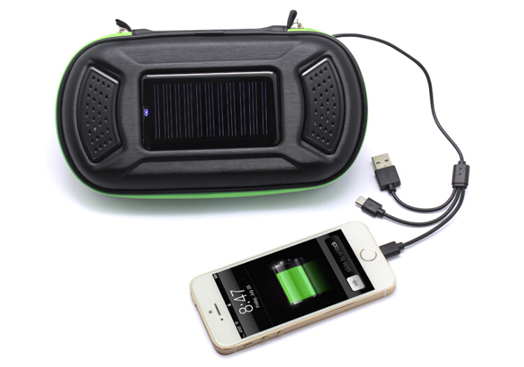 Innovative new products PU case mobile solar charger for android/iphone