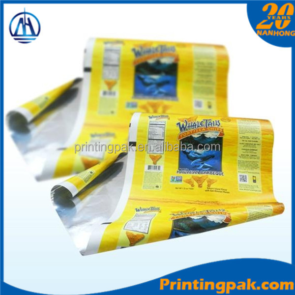 Automatic package films plastic printed PE laminated films rolls