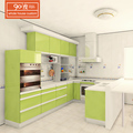 Custom modern mfc kitchen cabinet with glossy lacquer craft finish cabinet