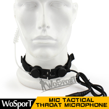 New products communication bone conduction throat microphone for walkie talkie