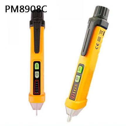 12-1000V with 3 kinds of Sound and LED Alarm Pen Type Non-contact AC Voltage Detector PM8908C