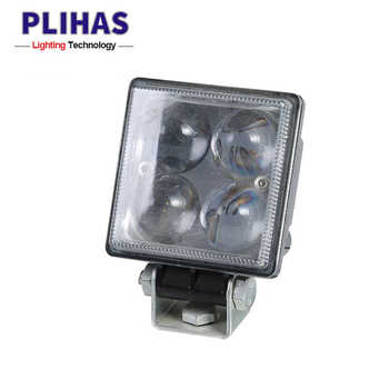 Auto parts 12w 5000k automotive headlight square durable led work lamp truck tractors led spotlight motorcycle headlamp