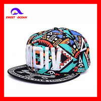 high quality acrylic 3D embroidery and printing snapback hats