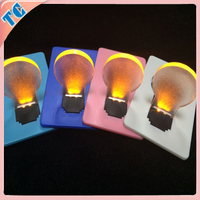 Bulb shape plastic led card light