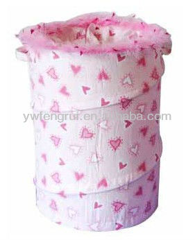 fold up collapsible round large cheap rattan laundry storage hamper for home use