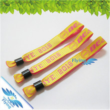 Cheap Festival Fabric Wristbands Woven Custom Glow in Dark Wristbands for Events