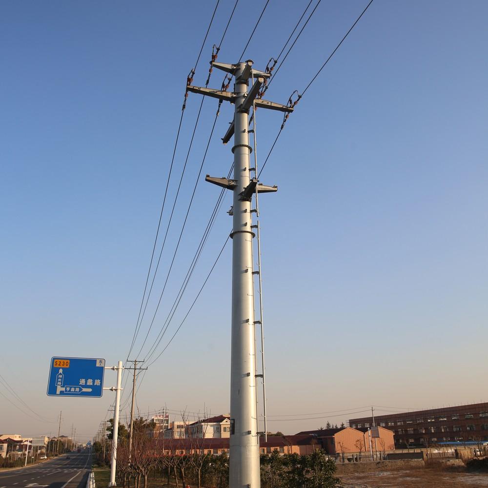 Light Pole Installation Near Me: Hdg Selfsupport Monopole Power Transmission Pole Steel