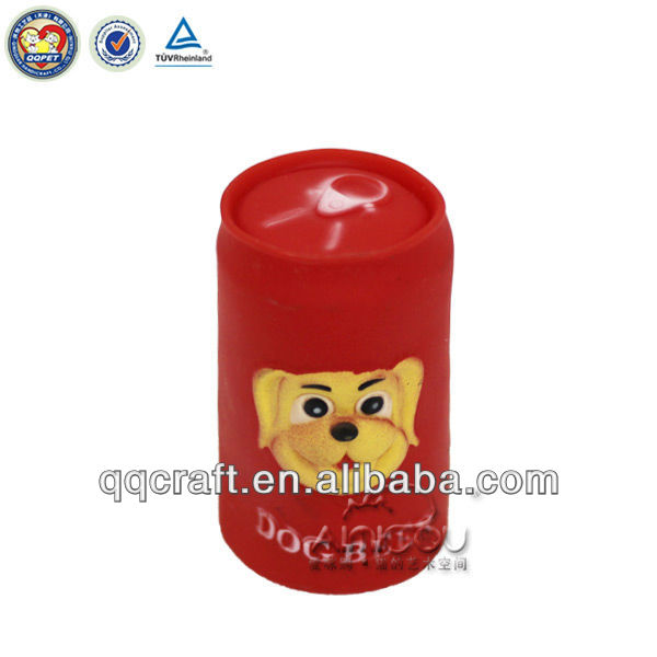 Plastic lovely Beer Can Pet Toy/pet supply toy