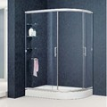 Fan-shape Aluminum Sliding Clear Glass Shower Door (KT6334R)