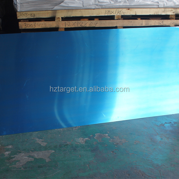 Good Quality Aluminium Sheet 5005 H34 PVC Clear Plastic Coating