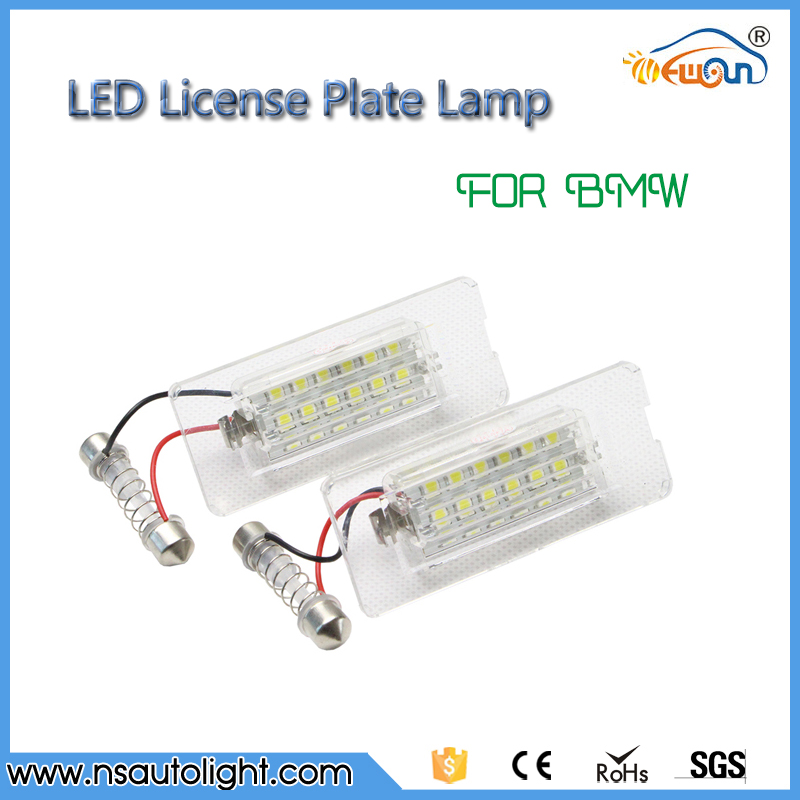 Car accessories for BMW parts license plate lamp 2pcs 18 LED design each lamp for BMW E53/X5/X3 before facelift