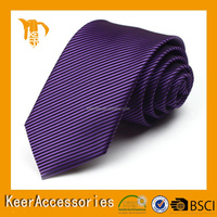 High quality pure silk purple color neckties men's ties