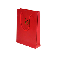 Red Wedding Door Gift Shoes and Matching Paper Bag