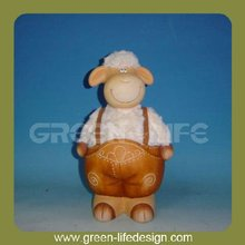 Garden decoration terracotta cow animal product