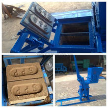 Durable manual clay interlocking brick making machine with lowest price