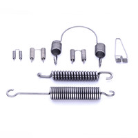 customize double hooks extension coiling spring
