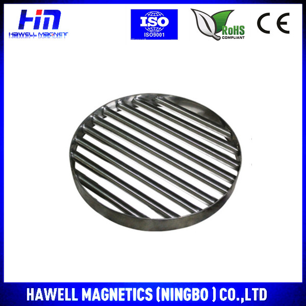 Round shape magnetic seperator for food industry