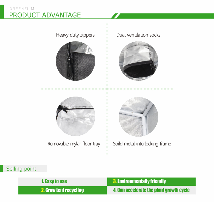 Beautiful Design Strong Steel Grow Tent Frames Greenhouse Fabric Film