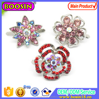 Shoe Ornaments Rhinestone Flower Applique Shoe