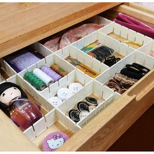 30Area part Household Plastic Partition Style Underwear Socks Ties Belts Scarves Drawer Divider Organizer Cabinet Storage Boxes