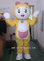 Super high quality girls Doraemon mascot costume robocat cartoon costume Doraemon fancy dress