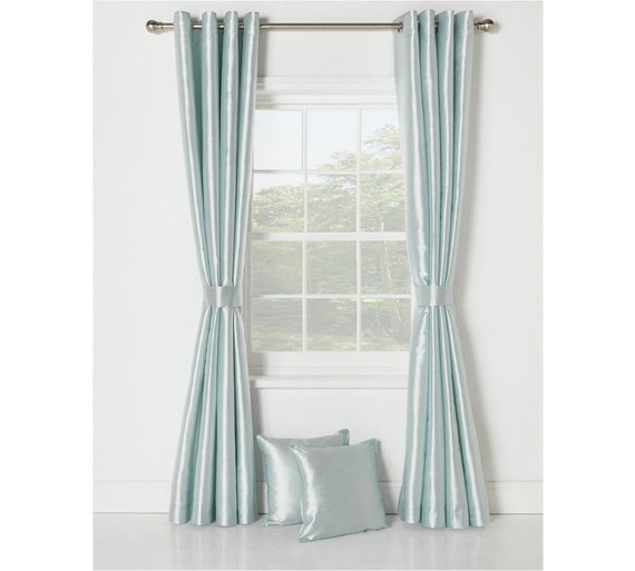 Faux Silk Lined Curtain Set -229x229