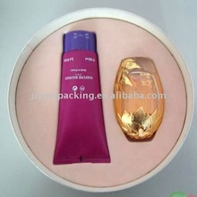 Pink plastic flocking tray for cosmetic