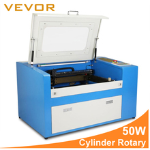 VEVOR Updated New 50W 3d CO2 Laser Cutting Machine with Auxiliary Rotary Device High Quality High Speed High Precision