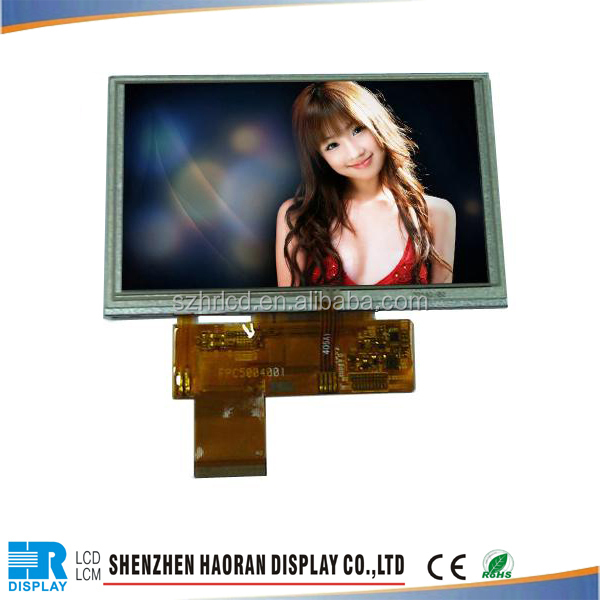 5 inch tft lcd module WVGA 800x480 with touch screen