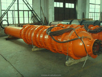 High capacity mining submersible motor pump in open pit