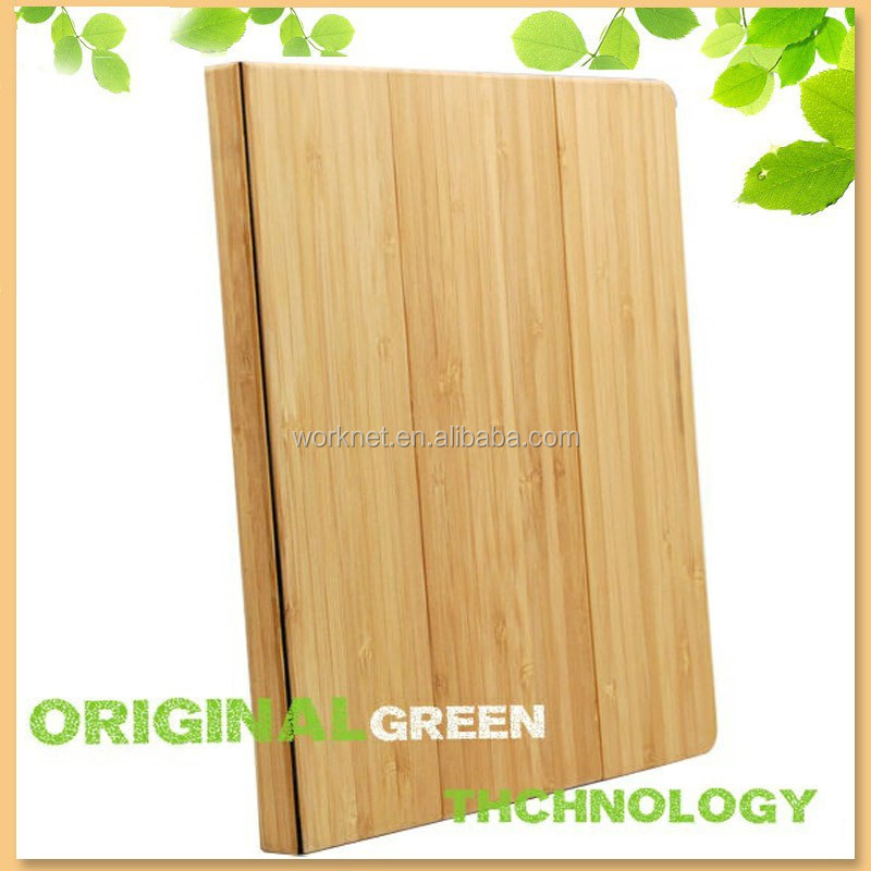 stylish smart function bamboo stand case for ipad mini 2/3