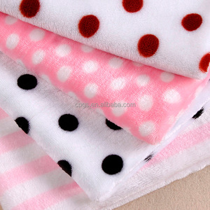 High quality discharge printing flannel fleece fabric