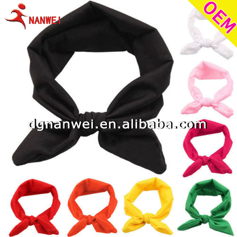 Women Yoga Elastic Cute Bow Hairband Turban Knotted Rabbit Hair Band Headband