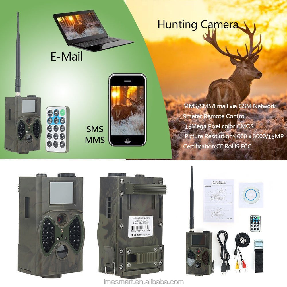 12MP 1080P HD Game & Trail Hunting Camera No Glow Infrared Scouting Camera Night Vision up to 75ft hunting camera gsm mms sms